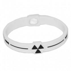 Bracelet energie Body Control   Taille-L Couleur-Blanc et Noir